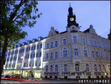 A central square in Amstetten, Austria