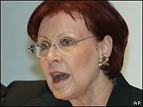 Heidemarie Wieczorek-Zeul, ministra alemana de Cooperación para el Desarrollo