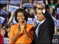 The Obamas, post-North Carolina