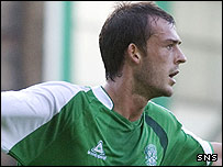 Hibernian striker Steven Fletcher