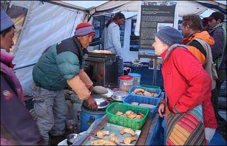 Everest base camp bakery