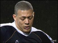 Mickael Antoine-Curier in action for Dundee