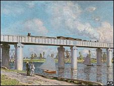 Le Pont du chemin de fer a Argenteuil