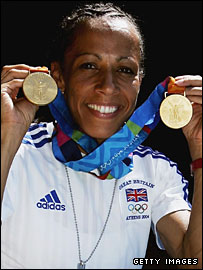 Kelly Holmes won two of GB's nine gold medals at the Athens Olympics