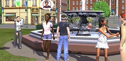 Screen grab from Sims 3
