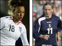 Women's football players from England and Scotland