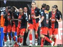 PSG celebrate Boli's goal
