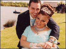 Fadi and Nisha on their wedding day