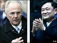 Man City boss Sven-Goran Eriksson and owner Thaksin Shinawatra