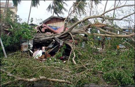 Devastation in Rangoon