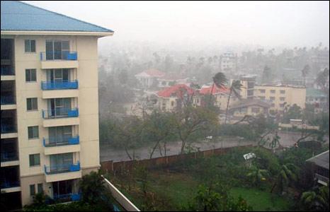Rangoon during the cyclone