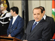 Silvio Berlusconi announces his new cabinet (7 May 2008)