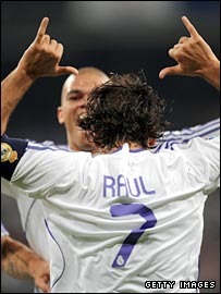 Raul opened the scoring for Real Madrid