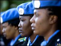 Военнослужащие нигерийского контингента сил ООН в Сьерра-Леоне