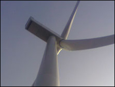 Turbine at the site near Skegness