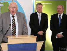 Ian Paisley, Duncan Niederauer and Martin McGuinness
