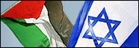 Bandera palestina e israelí