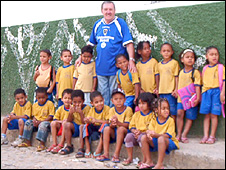 Daniel O'Brien with the children of his Brazilian ministry