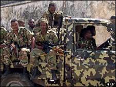 Ethiopian soldiers in Somalia