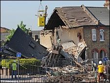 The collapsed houses in South Harrow