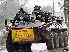 Russian troops in Grozny (file pic)