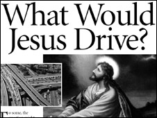 What would Jesus drive poster