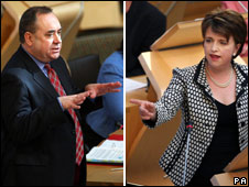 Alex Salmond and Wendy Alexander