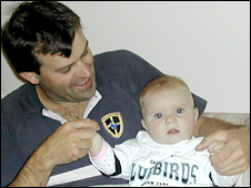 Alun Rodgers with his daughter Evie