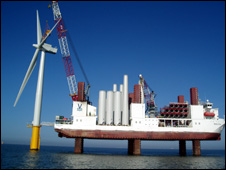Turbines being installed at Lynn and Inner Dowsing