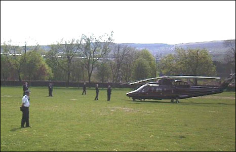 This picture of Prince Willliam's helicopter was sent by Neil Evans.