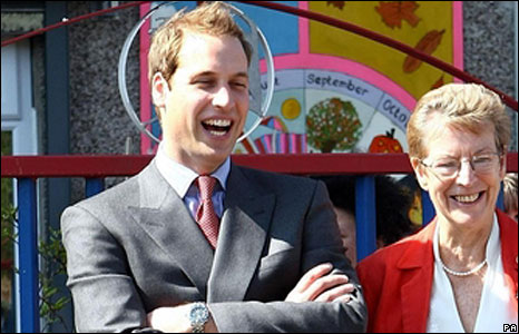 Prince William enjoys watching school children dancing.