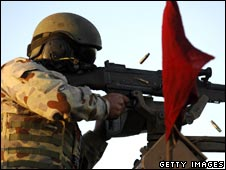 An Australian soldier in Afghanistan