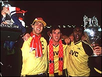 Arsenal's players celebrate their sensational 1989 title triumph