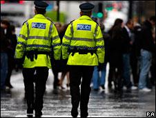 Police officers on patrol