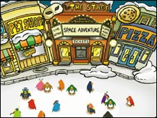 Screengrab from Club Penguin, Disney