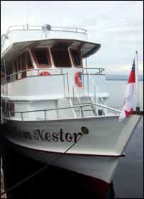 Dom Nestor, el bote de la BBC en el Amazonas