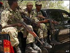 Somali government troops. File photo