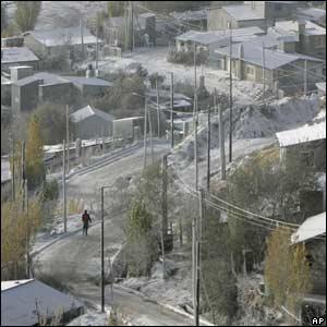 Vista de la ciudad de Esquel en Argentina