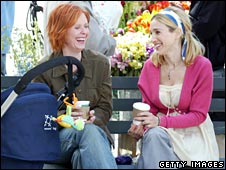 Cynthia Nixon and Sarah Jessica Parker