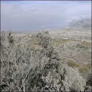 Paisaje patagónico cubierto de cenizas
