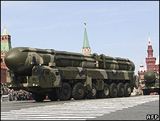 Topol-M long-range missile on Red Square