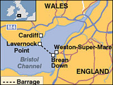 Map of barrage site