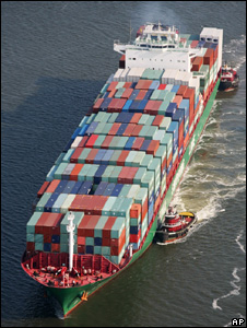 Ship loaded with freight containers (Image: AP)