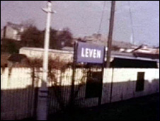 Leven station before closure