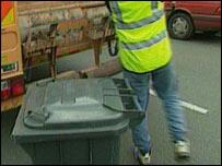 Recogiendo la basura en Inglaterra
