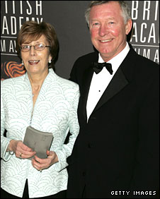 Sir Alex and Lady Cathy Ferguson