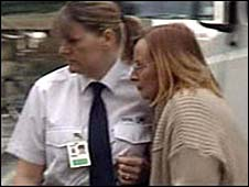 Heather Mook [right] arrives at court