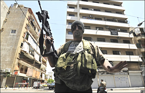 Shia gunman in Beirut on 9 May 2008