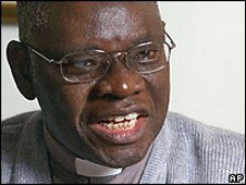 Nigeria's Archbishop Peter Akinola who led opposition to the ordination of gay priests