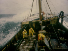 Trawler at sea